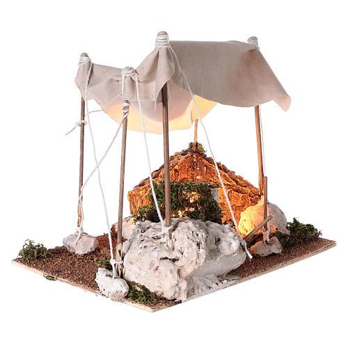 Tenda araba con luce per presepe napoletano di 8 cm 3