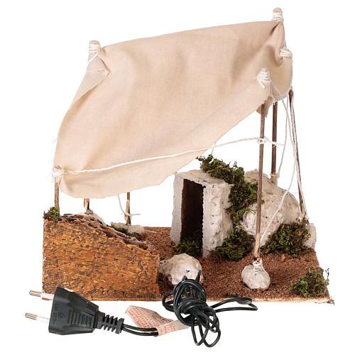 Tenda araba con luce per presepe napoletano di 8 cm 5