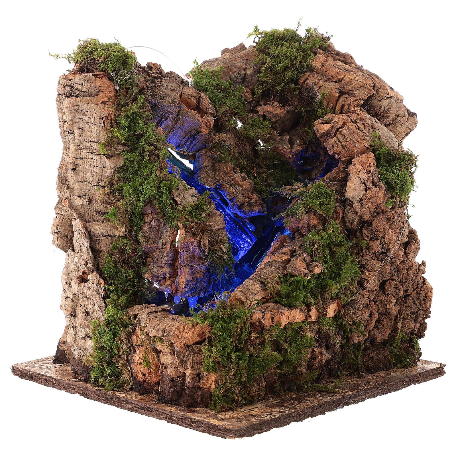 Cascada con luz para belén napolitano de 10 cm 4