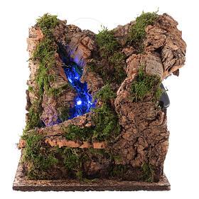 Cascada con luz para belén napolitano de 10 cm s1