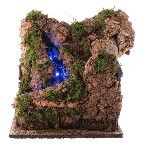 Cascada con luz para belén napolitano de 10 cm 1