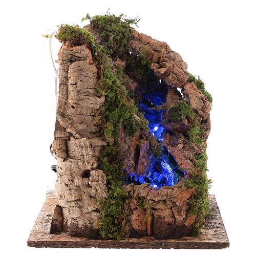 Cascada con luz para belén napolitano de 10 cm 3