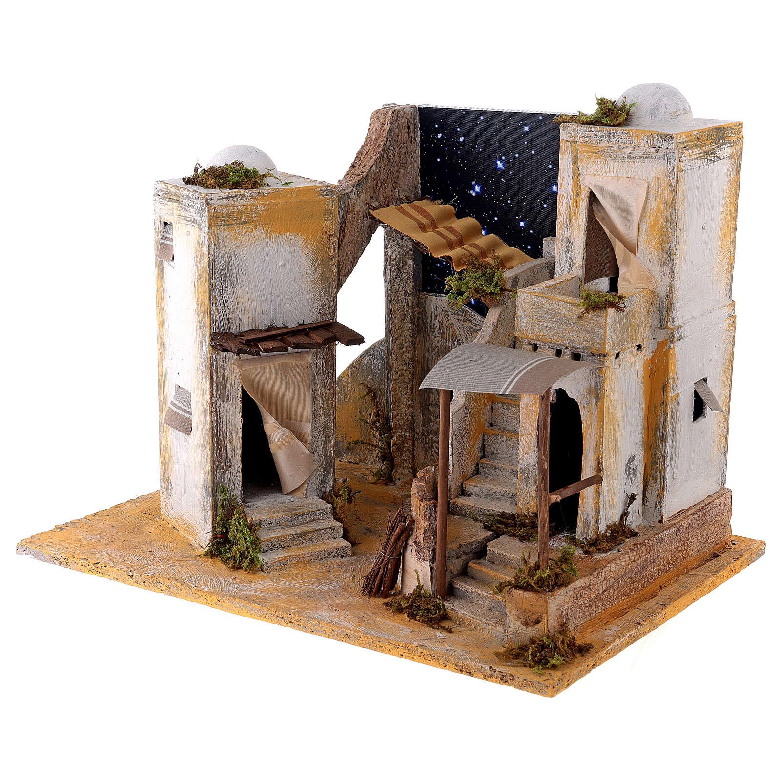 Minaret with starry sky for 8 cm Neapolitan Nativity scene 4