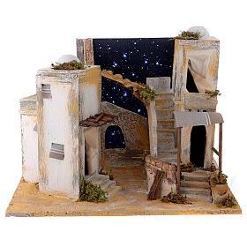 Minaret with starry sky for 8 cm Neapolitan Nativity scene s1