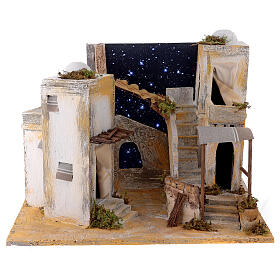 Miniature minaret with starry sky, for 8 cm Neapolitan nativity s1
