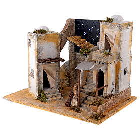 Miniature minaret with starry sky, for 8 cm Neapolitan nativity s2