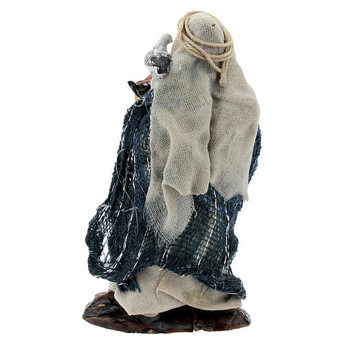 Woman with doves terracotta statue, 8 cm Neapolitan nativity 3