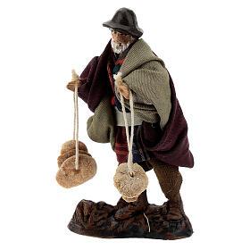 Man with freselle bread, 8 cm Neapolitan nativity figurine s2