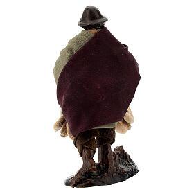 Uomo con freselle statua terracotta presepe napoletano 8 cm s3