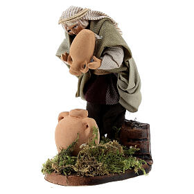 Water seller with amphorae, 8 cm Neapolitan nativity figurine s2