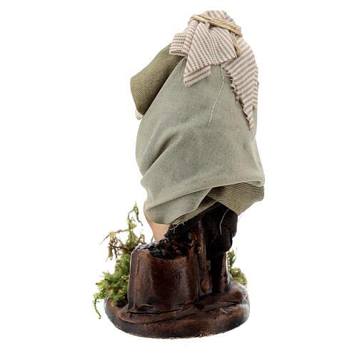 Hombre aguador ánforas terracota belén napolitano 8 cm 3