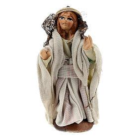 Little girl walking, 8 cm terracotta Neapolitan nativity s1