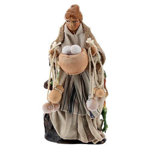 Woman with cheese, 8 cm Neapolitan nativity figurine 1