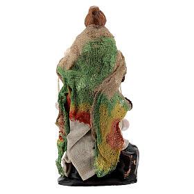 Donna ricotta formaggi presepe napoletano terracotta 8 cm s3