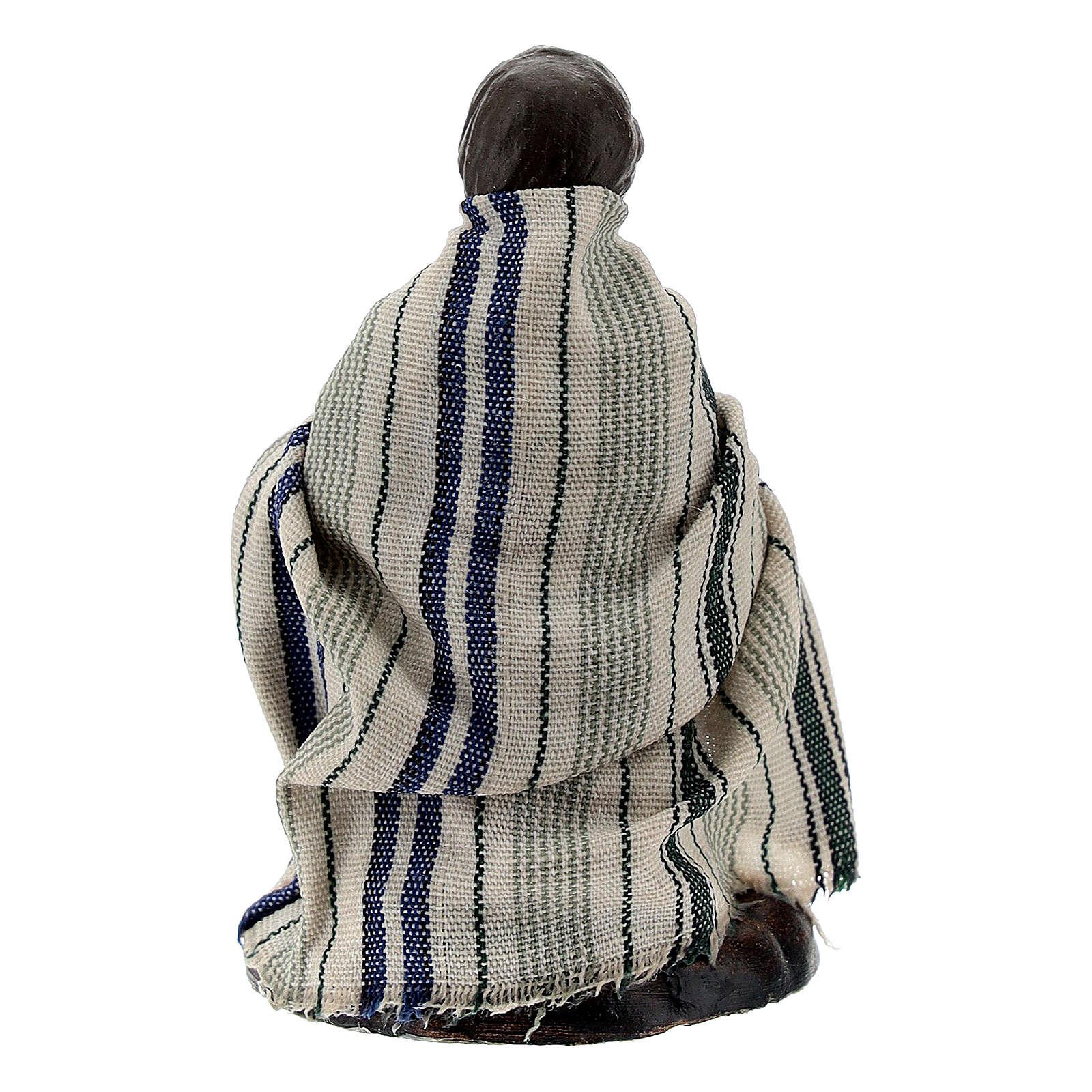 Bambino con capretta terracotta presepe napoletano 8 cm 4