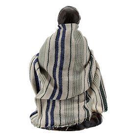 Bambino con capretta terracotta presepe napoletano 8 cm s3