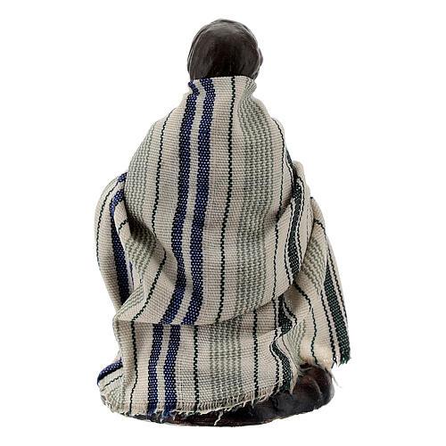 Bambino con capretta terracotta presepe napoletano 8 cm 3
