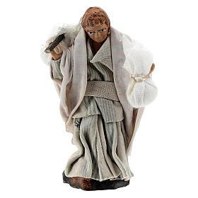 Boy carrying sacks over shoulder, 8 cm Neapolitan nativity figurine s1