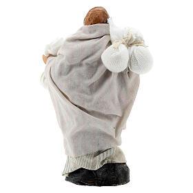Boy carrying sacks over shoulder, 8 cm Neapolitan nativity figurine s3