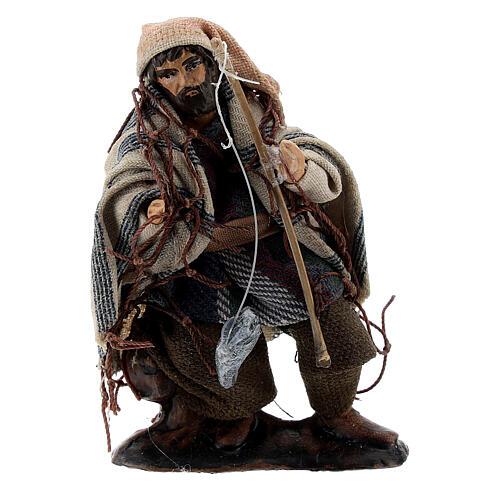 Fisherman with rod 8 cm Neapolitan nativity figurine 1