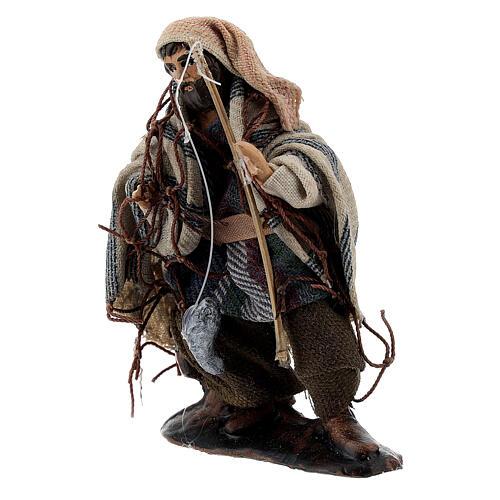 Fisherman with rod 8 cm Neapolitan nativity figurine 2