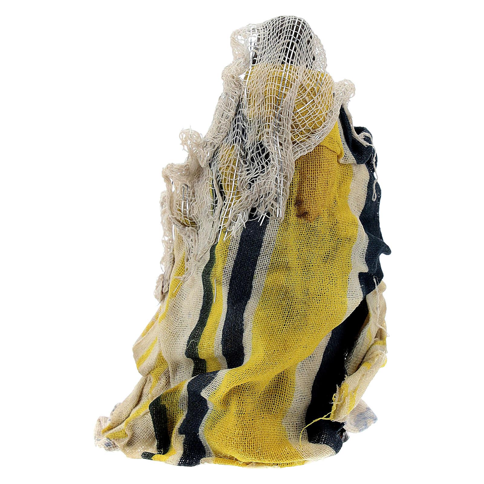 Mujer sentada niño brazo terracota 8 cm belén napolitano 4