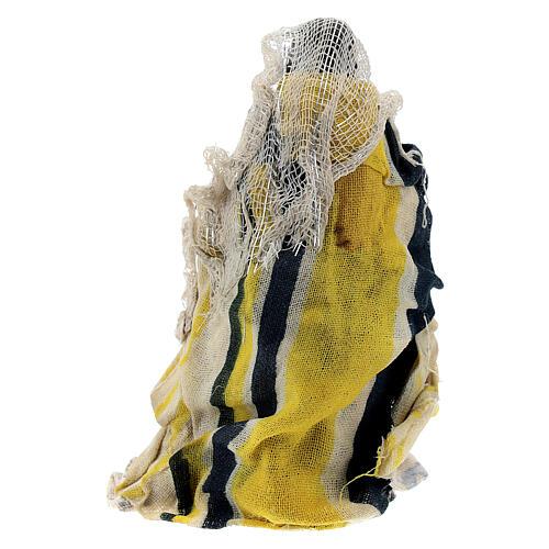 Mujer sentada niño brazo terracota 8 cm belén napolitano 3