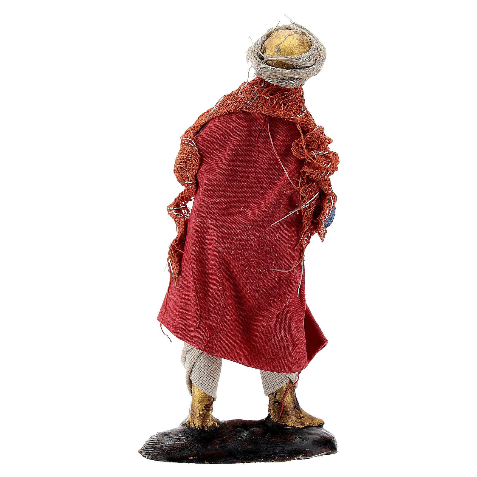 Tocador cuerno músico 8 cm belén napolitano terracota 4