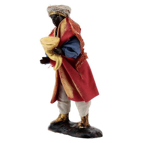 Musician with trumpet 8 cm Neapolitan nativity figurine 2