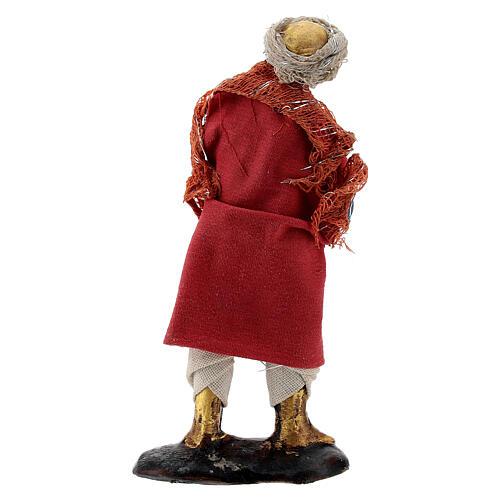 Musician with trumpet 8 cm Neapolitan nativity figurine 3