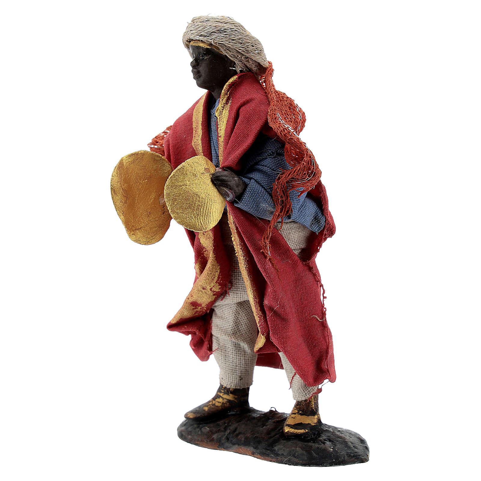 Joueur de cymbales crèche napolitaine santon terre cuite 8 cm 4
