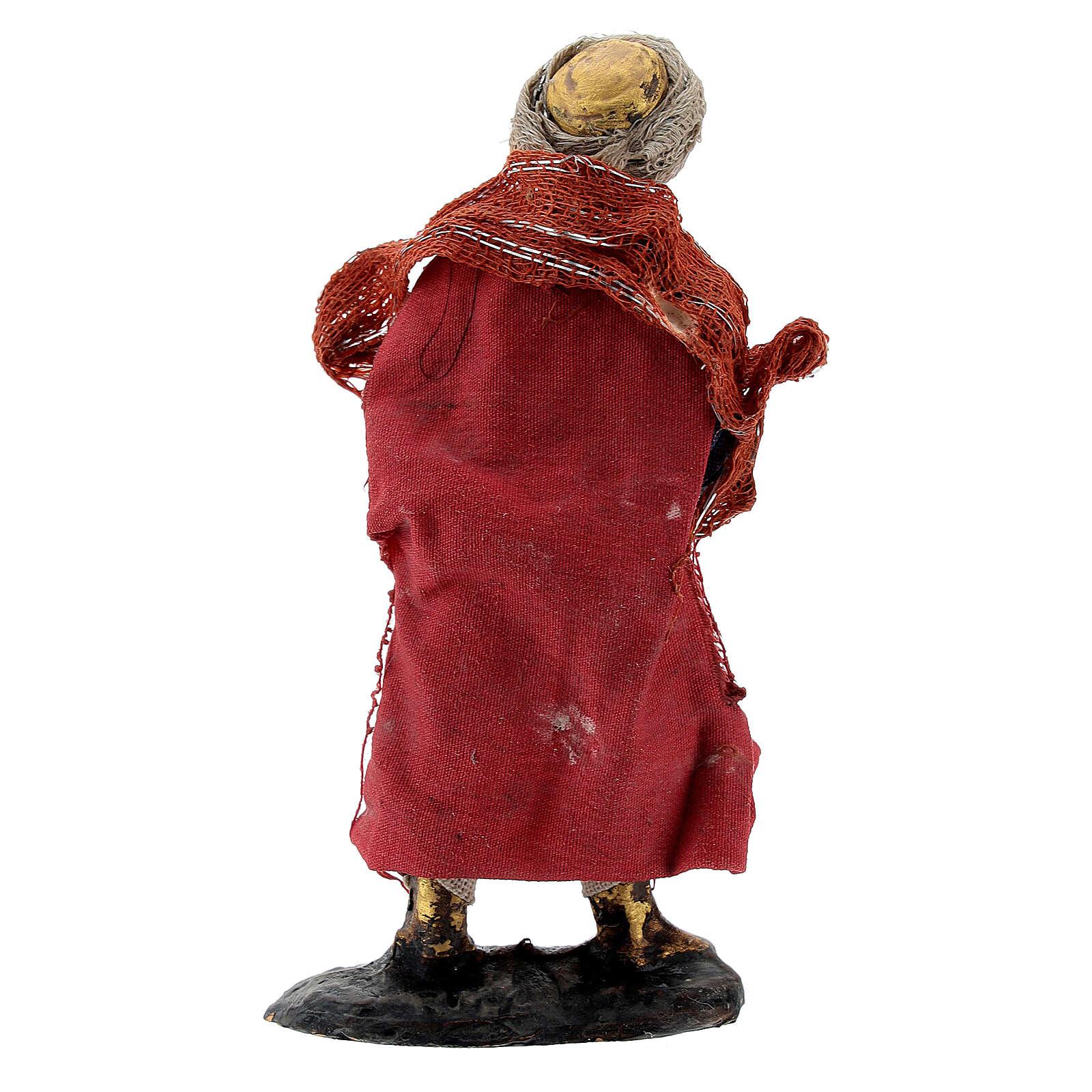 Suonatore con piatti presepe napoletano statua terracotta 8 cm 4