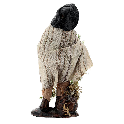 Shepherd with moss basket 8 cm Neapolitan nativity figurine 3