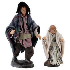 Man with child 12 cm Neapolitan nativity figurine s1