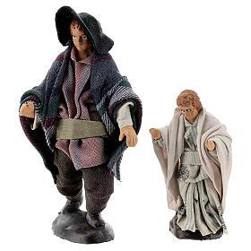 Man with child 12 cm Neapolitan nativity figurine s4