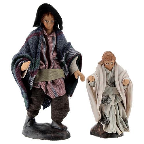 Man with child 12 cm Neapolitan nativity figurine 1