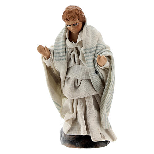 Pregnant woman with child 12 cm Neapolitan nativity figurine 3