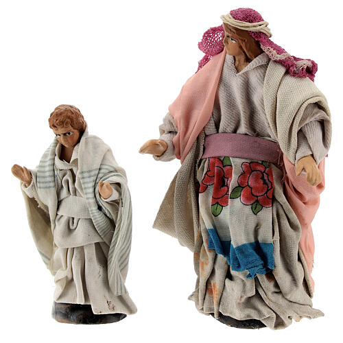 Pregnant woman with child 12 cm Neapolitan nativity figurine 4