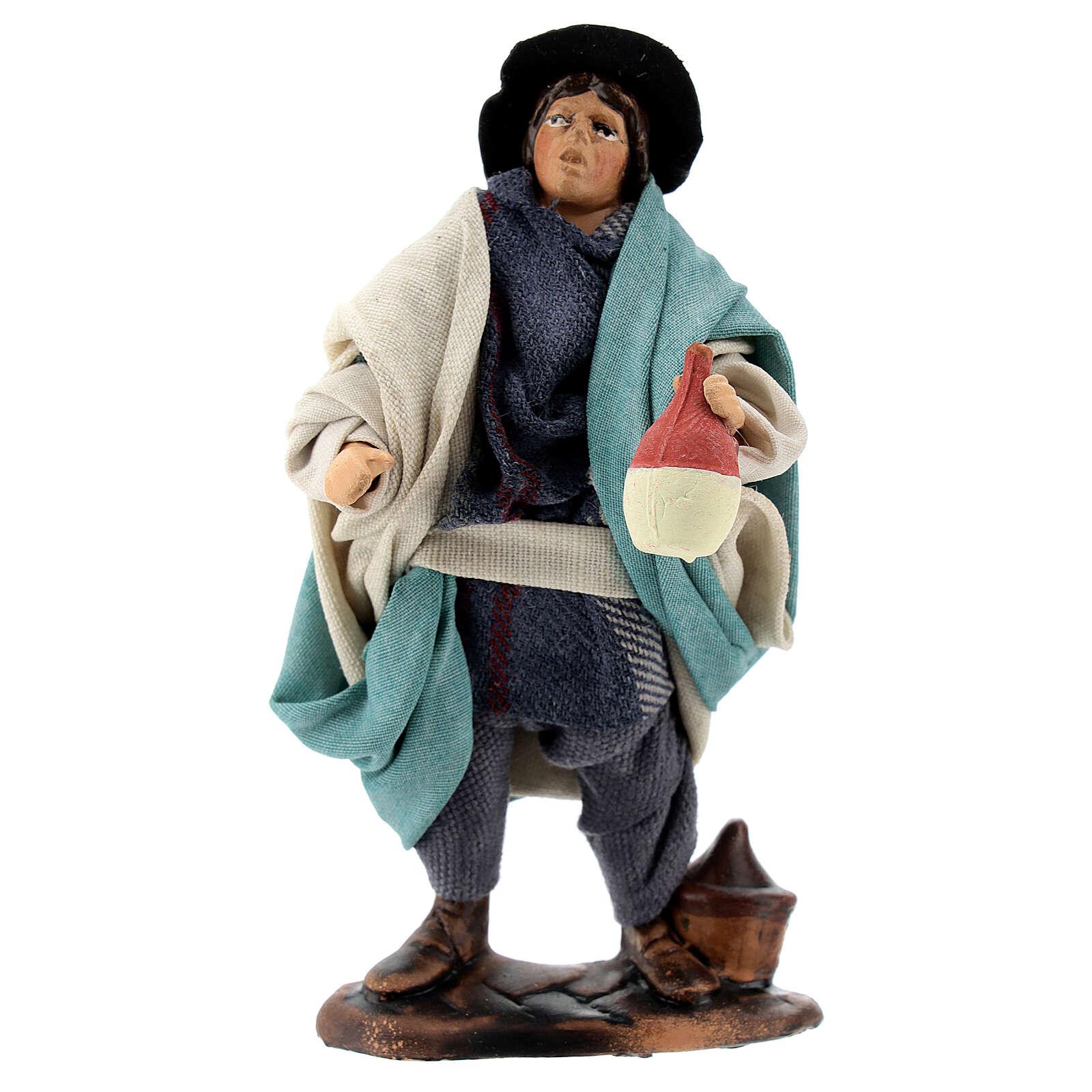 Drunkard standing 12 cm Neapolitan nativity figurine 4