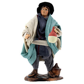 Drunkard standing in terracotta, 12 cm Neapolitan nativity s1