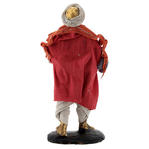 Suonatore arpa presepe napoletano 12 cm statua terracotta 5