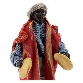 Cymbal player 12 cm Neapolitan nativity figurine s2