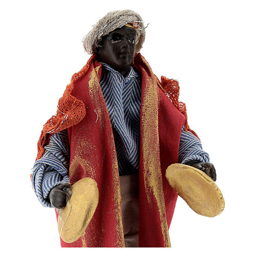 Cymbal player 12 cm Neapolitan nativity figurine 2