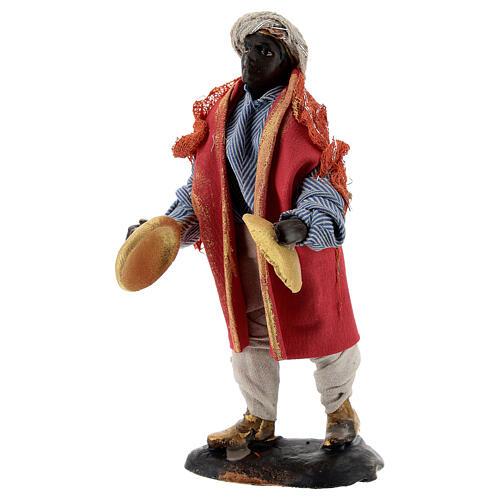 Cymbal player 12 cm Neapolitan nativity figurine 3