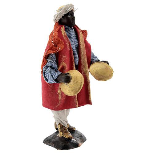 Cymbal player 12 cm Neapolitan nativity figurine 4