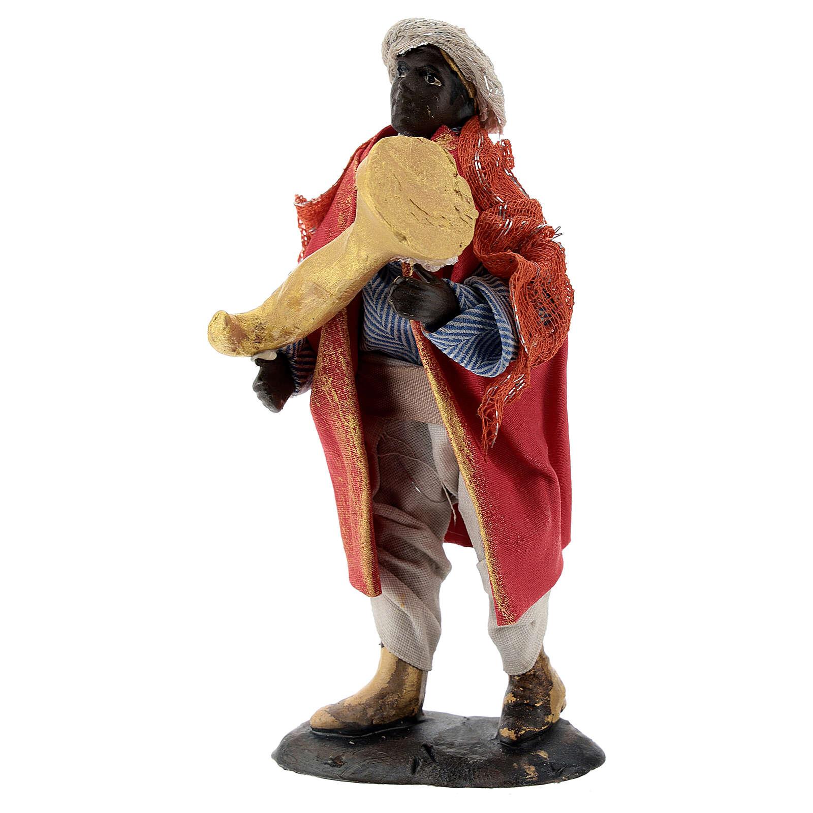 Trumpet player 12 cm Neapolitan nativity figurine 4