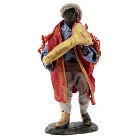 Suonatore tromba statua terracotta 12 cm presepe napoletano s1