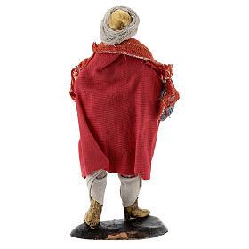 Suonatore tromba statua terracotta 12 cm presepe napoletano s5