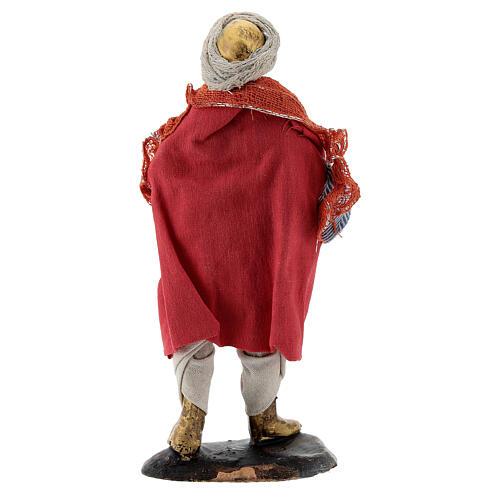 Suonatore tromba statua terracotta 12 cm presepe napoletano 5
