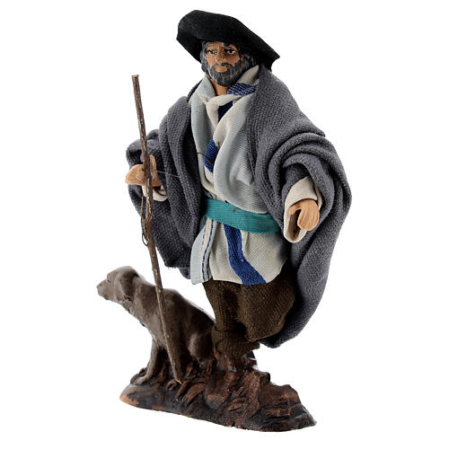 Limping man with dog 12 cm Neapolitan nativity figurine 3